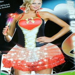 Light up 3 pc Queen of Heartbreaker Costume, Small